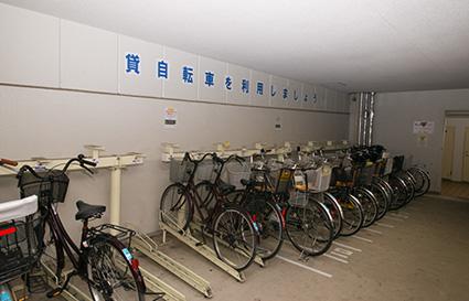 駐輪場(レンタルサイクルもあります)