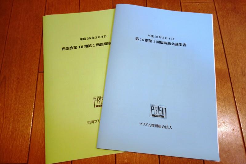 No.230 臨時総会の議案書