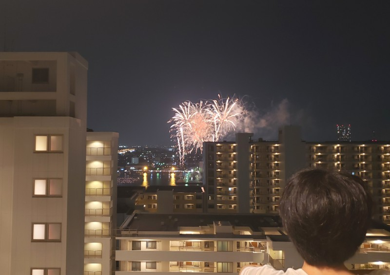 No.300 プリズムから花火鑑賞